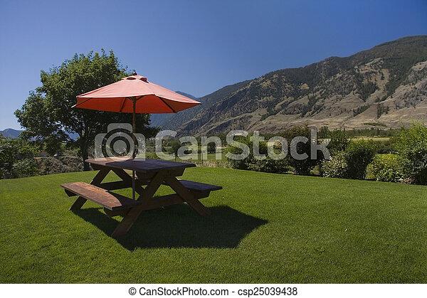 Mesa de picnic - csp25039438