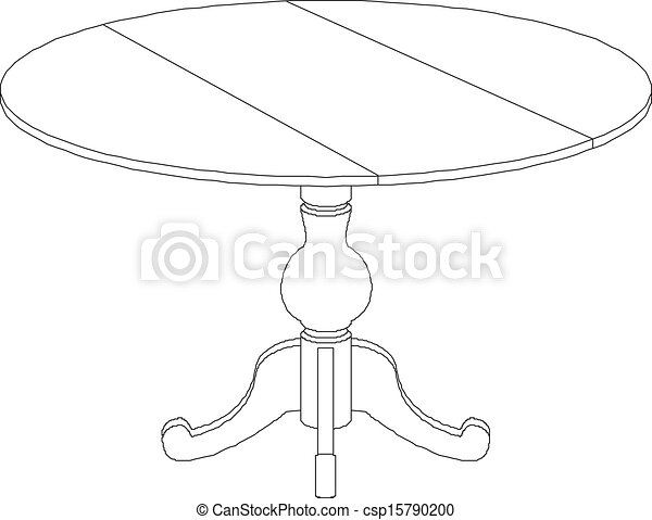 Dibujo de mesa redonda - csp15790200