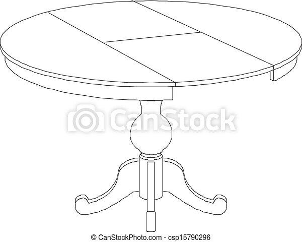 Dibujo de mesa redonda - csp15790296