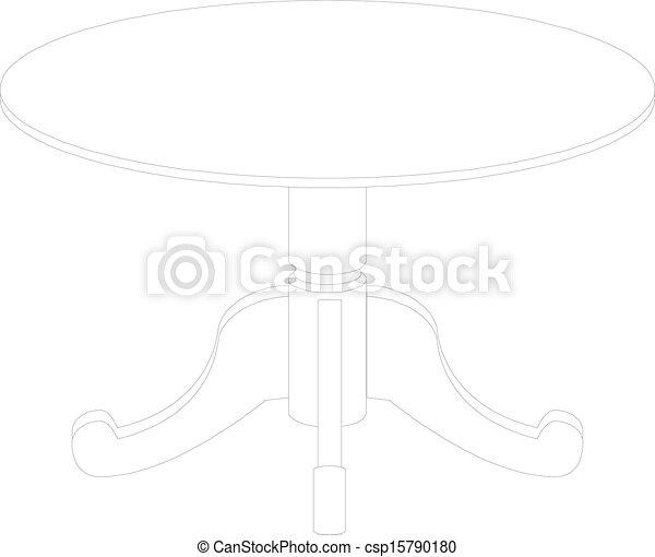 Dibujo de mesa redonda - csp15790180