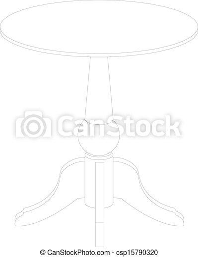 Dibujo de mesa redonda - csp15790320