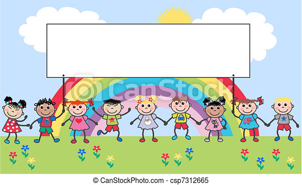 mescolato, bambini, etnico - csp7312665