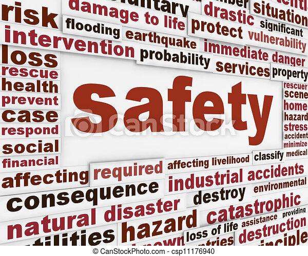 message, avertissement, sécurité, fond - csp11176940