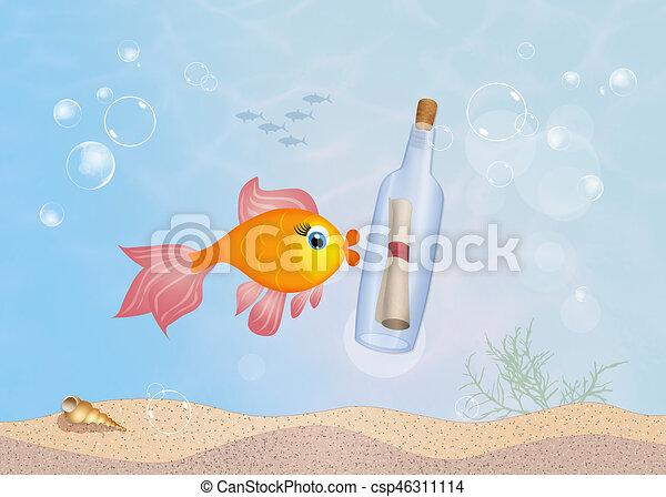 message, bouteille - csp46311114