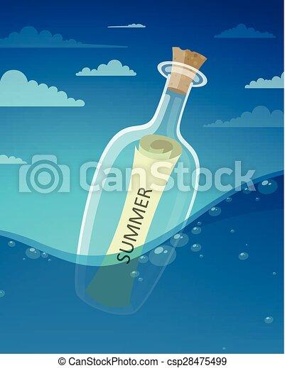 message, bouteille - csp28475499