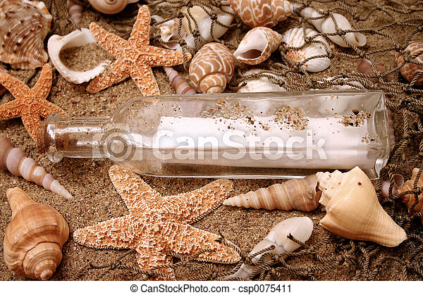 Message in a bottle - csp0075411