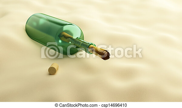 message in a bottle - csp14696410