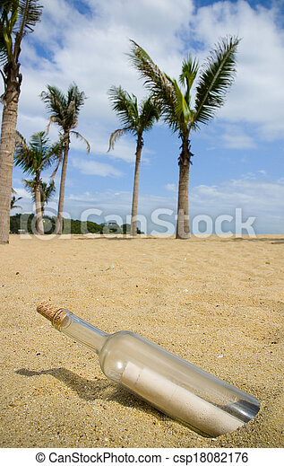 Message in a Bottle - csp18082176