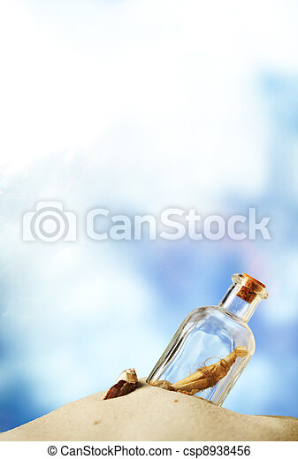 Message in a bottle - csp8938456