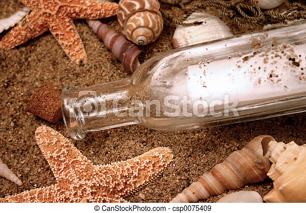 Message in a bottle - csp0075409