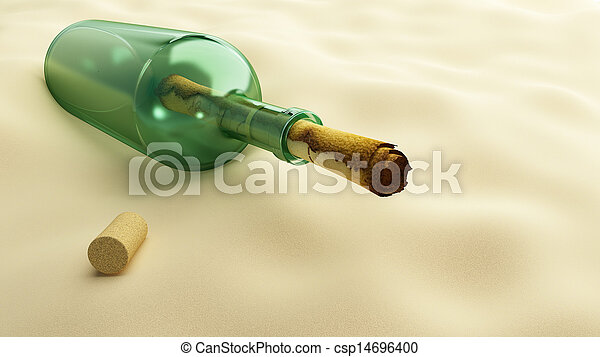 message in a bottle - csp14696400