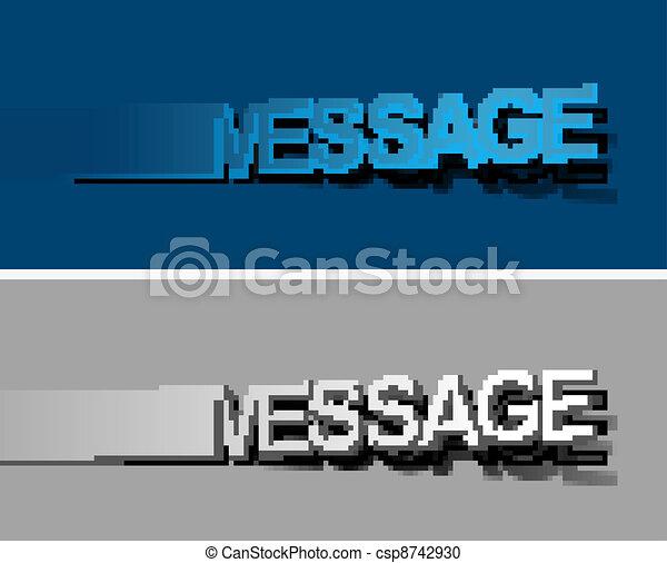 Message peel off vector design element - csp8742930