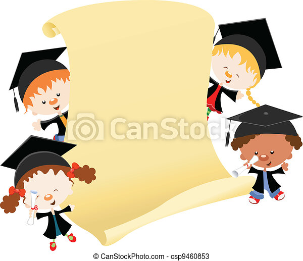 message, remise de diplomes - csp9460853