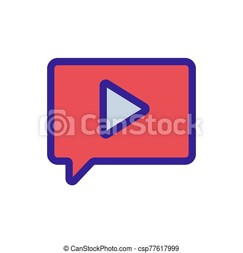 message with the sound of the vector icon. Isolated contour symbol illustration - csp77617999