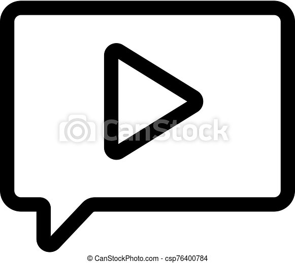 message with the sound of the vector icon. Isolated contour symbol illustration - csp76400784