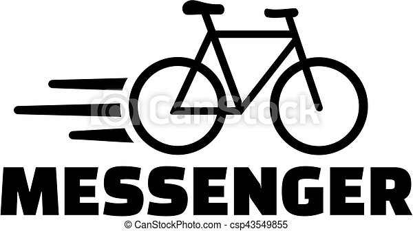 Messaggero Bicicletta Icona