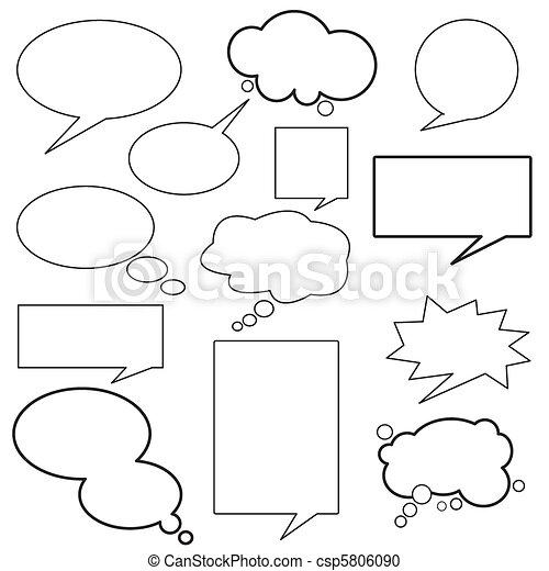 messaggio, dialogo, balloon - csp5806090