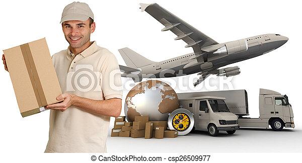 Messenger and transportation process - csp26509977