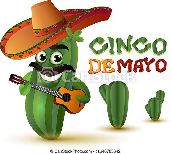 messicano, cipolla, sombrero, carattere, stivali, chitarra gioca