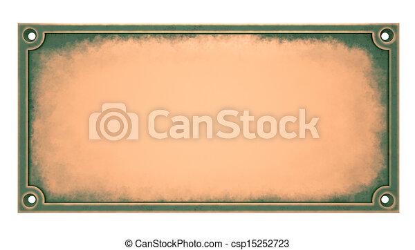 Brass Plaque - csp15252723