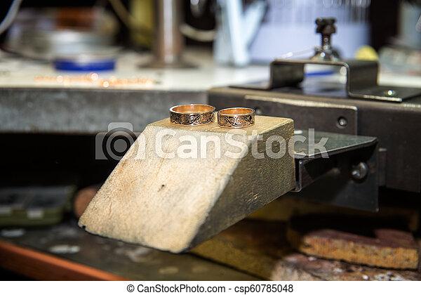mestiere, lavorativo, jewelery, fabbricazione, scrivania - csp60785048