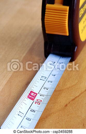 mesurer, fin, bande, haut, vue - csp3459288