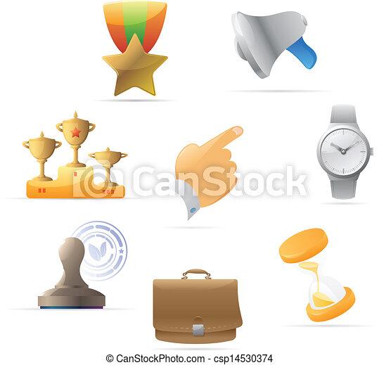 metáfora, ícones negócio - csp14530374