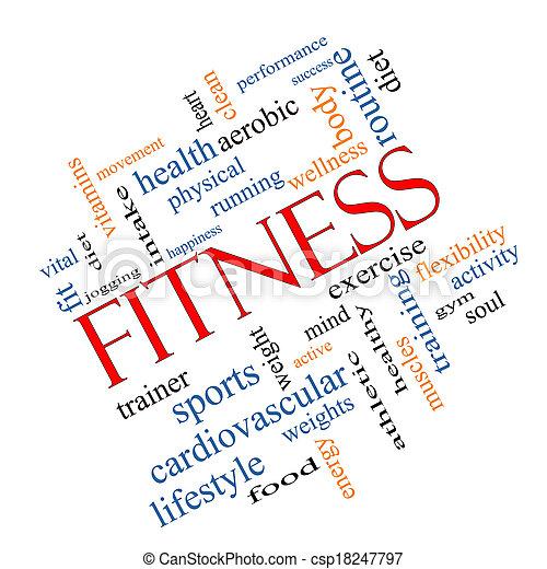 meta, begrepp, ord, moln, fitness - csp18247797