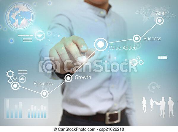 El objetivo de los negocios. - csp21026210
