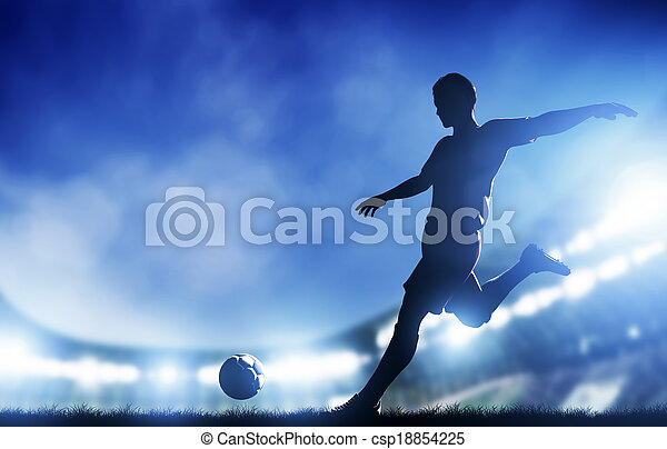meta calcio, football, giocatore, match., riprese - csp18854225