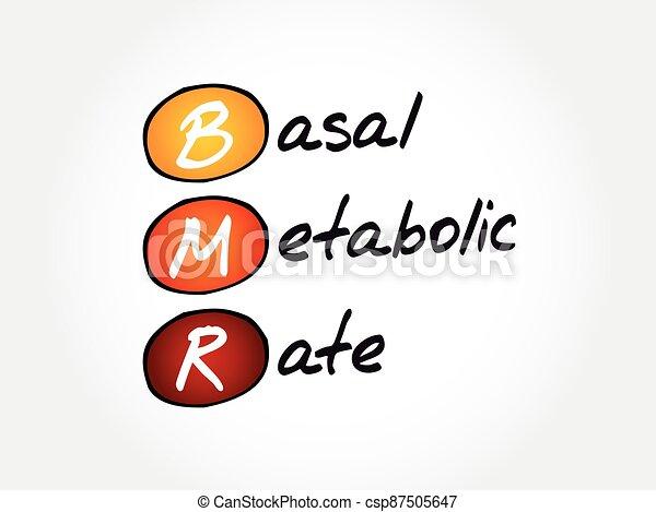 metabolic, tasa, concepto, plano de fondo, basal, bmr, siglas, - - csp87505647