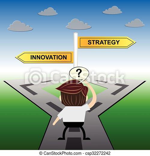 metafora, humor, innowacja, strategia, projektować, vs - csp32272242