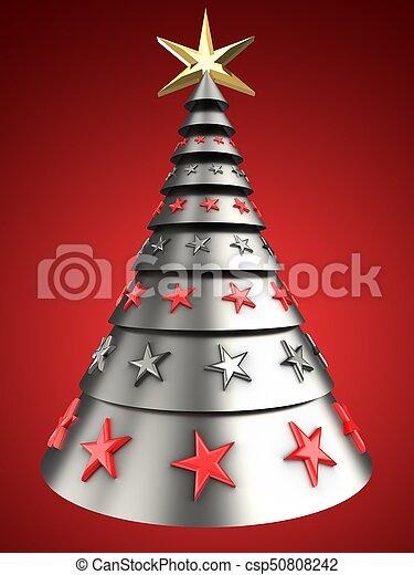 Metal rbol navidad 3d Plano de fondo rbol encima foto de