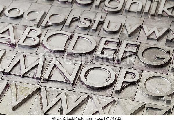 metal alphabet abstract - csp12174763