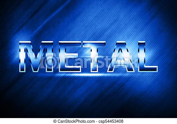 Metal alphabet and symbols - csp54453408