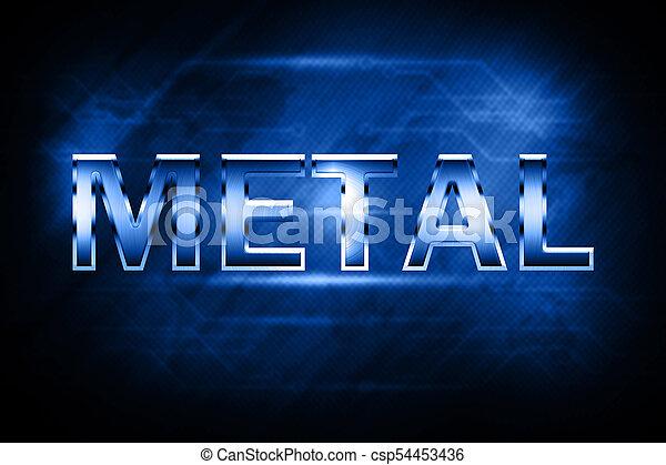 Metal alphabet and symbols - csp54453436
