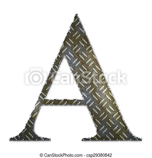 Metal alphabet symbol - A - csp29380842