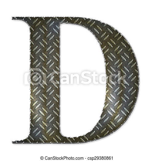 Metal alphabet symbol - D - csp29380861