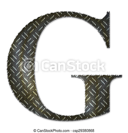 Metal alphabet symbol - G - csp29380868