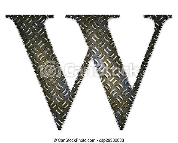 Metal alphabet symbol - W - csp29380833