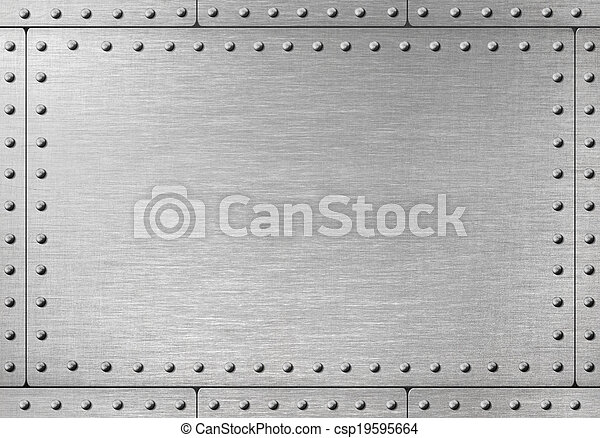 metal armor with rivets background - csp19595664