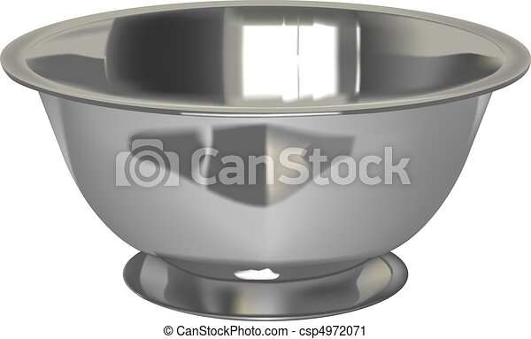 metal bowl - csp4972071