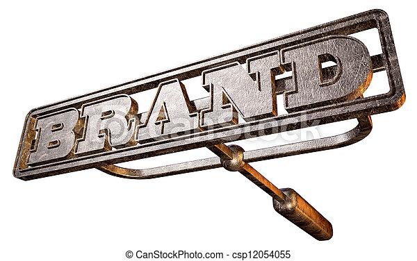 Metal Branding Brand Perspective - csp12054055