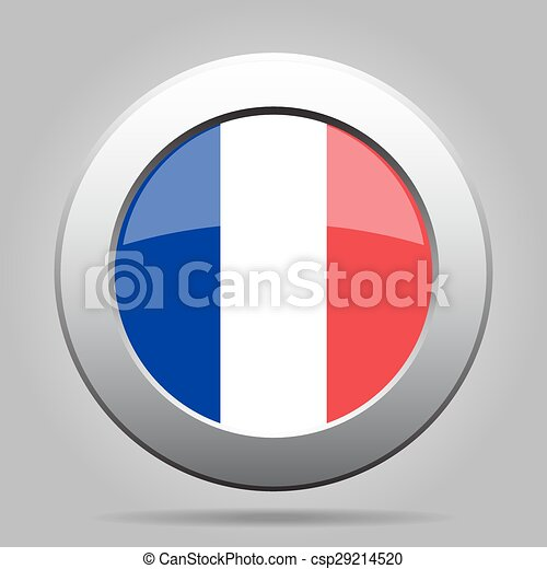 metal button with flag of France - csp29214520