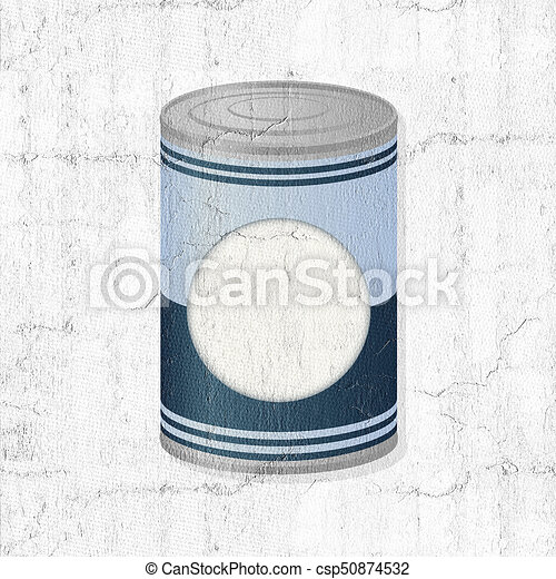 metal can of preserved food - csp50874532
