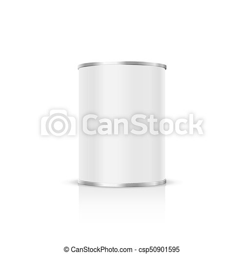 Metal can on a white background. - csp50901595