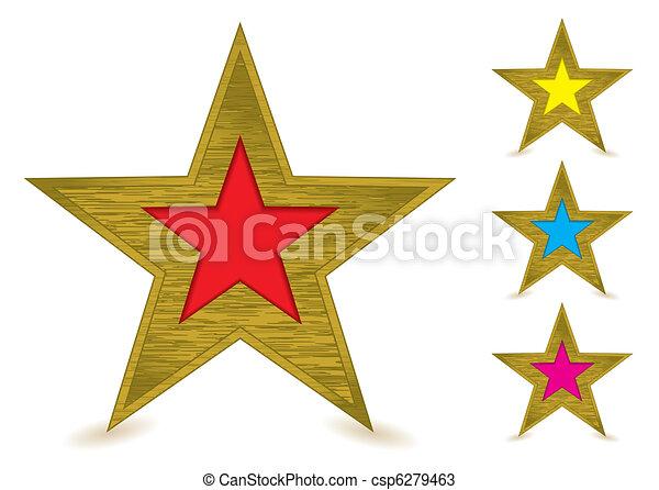 Un premio de oro de metal - csp6279463