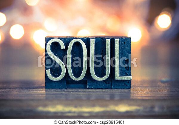El concepto del alma del tipo de letra metálica - csp28615401