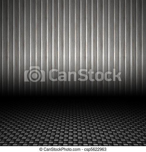 Telón de fondo de metal corrugado - csp5622963