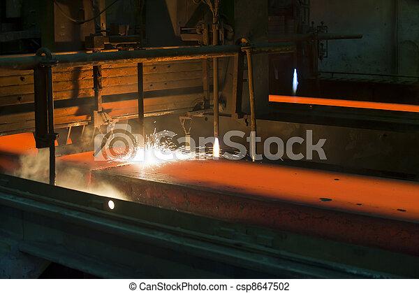 metal, dentro, corte, gás, quentes - csp8647502